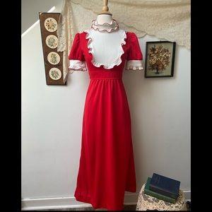 Vintage Cottagecore Maxi Dress